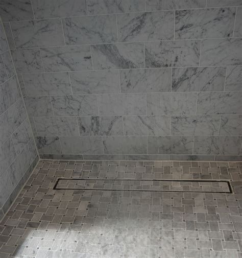 Linear Shower Drain Design Gaining Bathroom Elegance