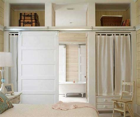 Barn Door On Bathroom With White Color Ideas Home