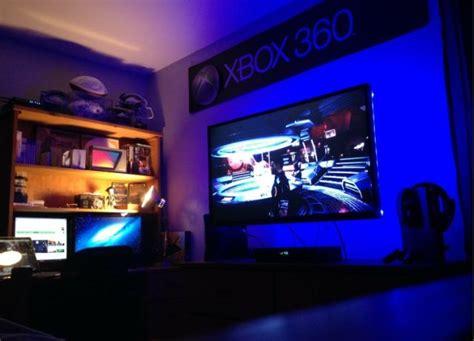 led light gaming room setup gaming rooms setup