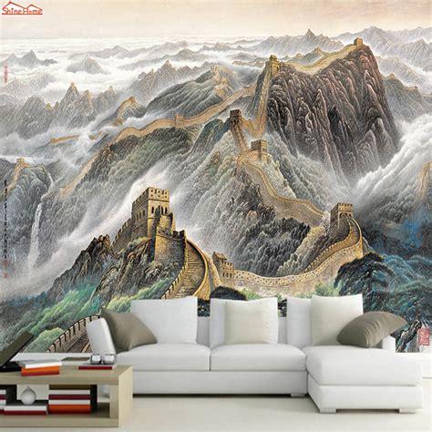 buy shinehome chinese   wallpaper mural