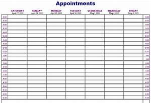 Appointments schedule template blue layouts for Appointment log template