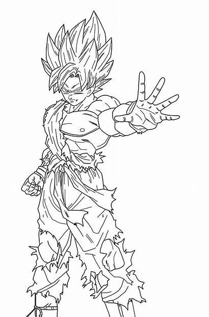 Xenoverse Lineart Deviantart Goku Dragon Ball Dragonballaffinity