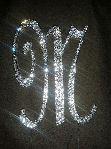 monogram sliver bling letters    numbers  simplycreative