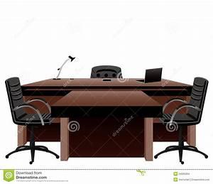 Le Bureau Du Directeur Illustration De Vecteur