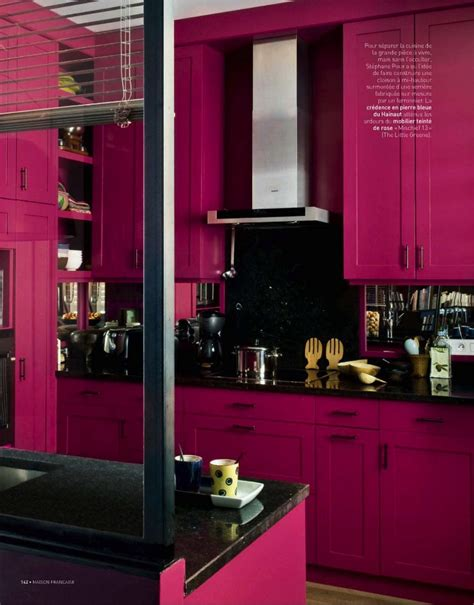 bright pink kitchen accessories lotus fig color story toned walls 4916