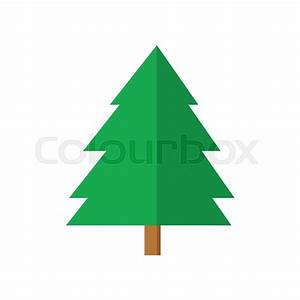 Simple Spruce Christmas Tree Vector Graphic Illustration