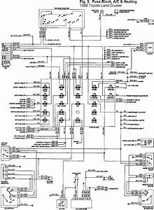 Toyota Land Cruiser 1988 Fuse Block  Ac And Heating Wiring