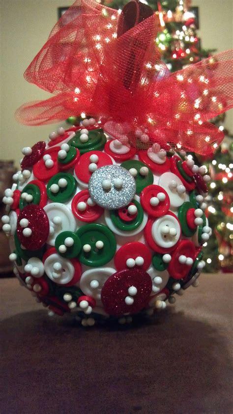 button ornament christmas pinterest