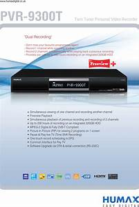 Humax Pvr 9300t Users Manual 9300t Leaflet 1