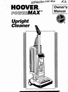 Hoover Vacuum Cleaner U3721 User Guide