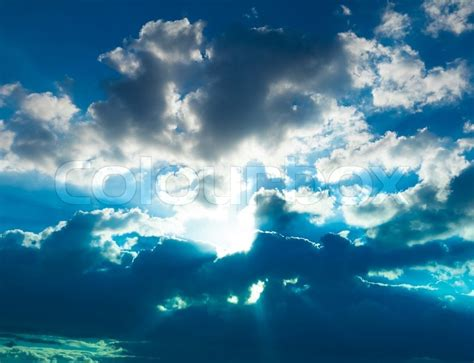 daylight l for photography blue heavens peaceful heaven broad daylight stock photo
