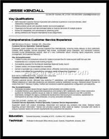 Resume Objective Exles For Customer Service by Customer Service Resume Exles Objective Document