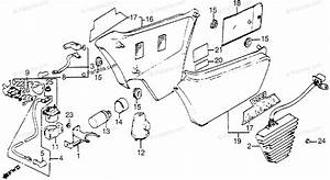 Honda Motorcycle 1983 Oem Parts Diagram For Side Cover    Rectifier