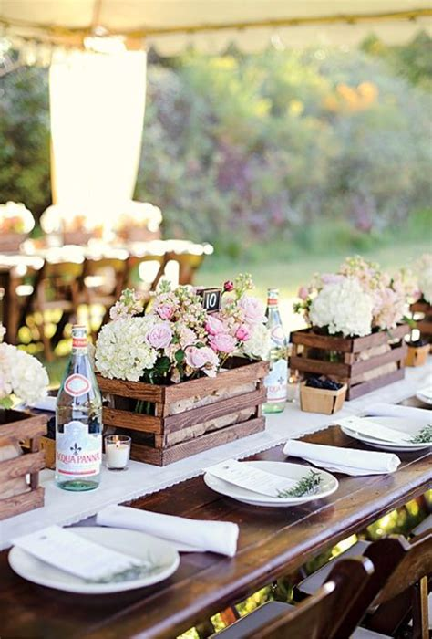 country wedding table decorations 20 great ideas to use wooden crates at rustic weddings