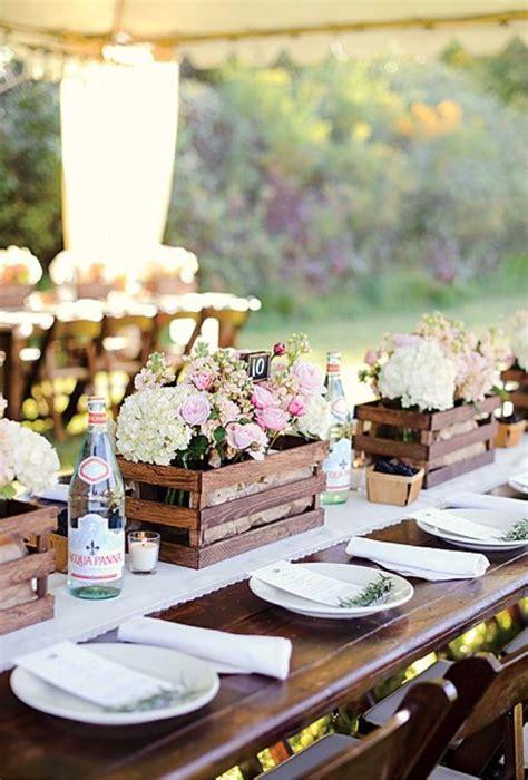 great ideas   wooden crates  rustic weddings