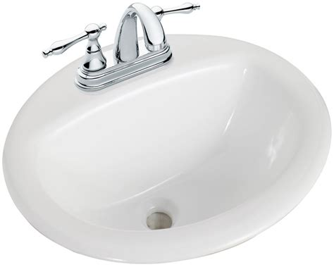 drop in bathroom sinks canada glacier bay drop in bathroom sink in white the