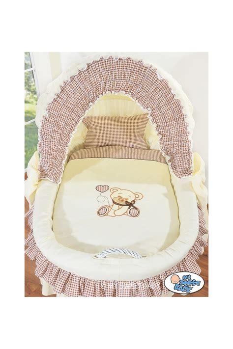 culle per neonato neonato vimini orsacchiotto beige