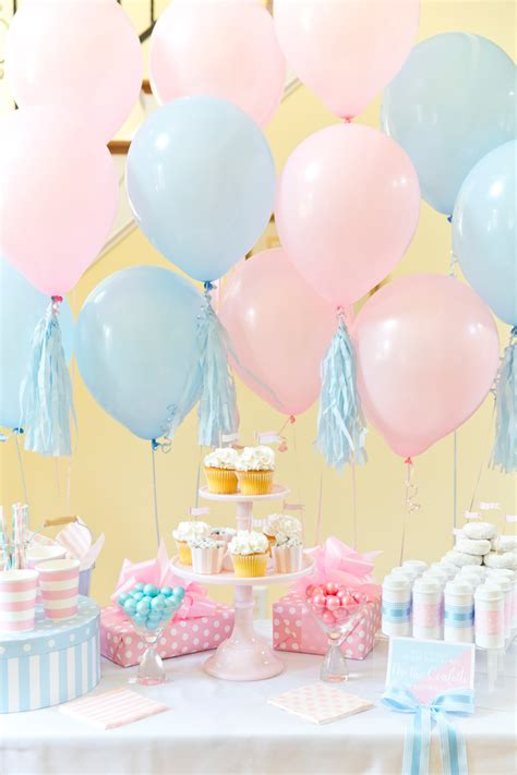 boy  girl blue pink gender reveal party pizzazzerie