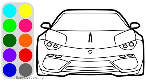 How To Draw Lamborghini Asterion Concept Car Front View