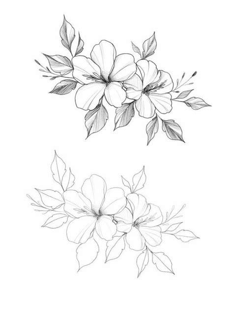 25 Beautiful Flower Drawing Information & Ideas | Beautiful flower drawings, Flower tattoos