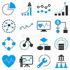 Dotted Vector Infographic Business Icons Stock Vector