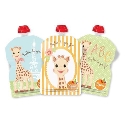 girafe cuisine squiz reusable food pouches for babies la girafe