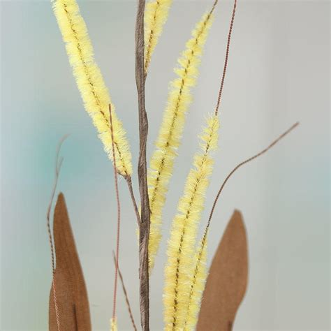 yellow artificial willow tree stem picks and stems