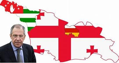Flag Georgia Abkhazia Ossetia Map South Russia