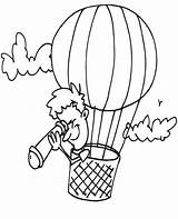 Coloring Balloon Telescope Air Watching Looking Down Feels Lars Excited Land Through Dog Sheet Bulkcolor Using sketch template