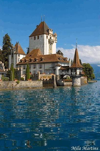Switzerland Thun Castle Castles Lake Travel Around