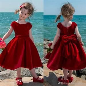 Baby Length And Weight Chart Cute Red Velvet Flower Girl Dress Tea Length Baby Girls