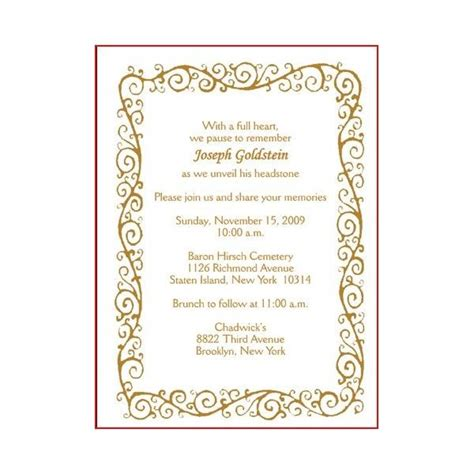 invitation card format  death ceremony format card