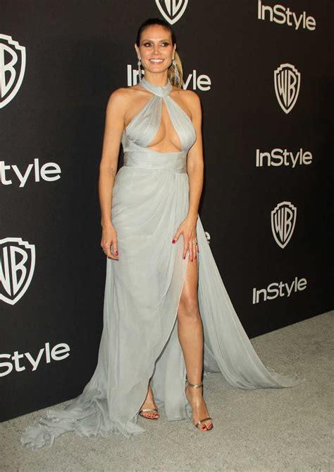 Heidi Klum Attends Instyle Warner Bros Golden Globes