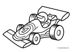 Race Car Coloring Pages for Kids Printable