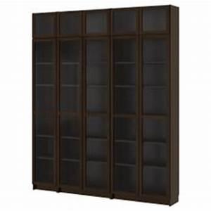 Bibliothèque Vitrée Ikea : billy biblioth ques brun noir avec portes en verre tremp et grundtal clairage vitrine en acier ~ Teatrodelosmanantiales.com Idées de Décoration