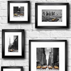 Muriva Manhattan In Frame Wallpaper Black Yellow White