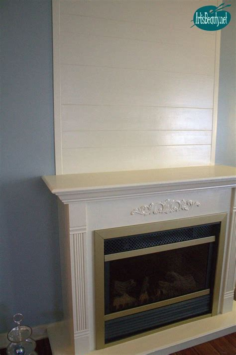 hometalk cheap  easy faux ship lap fireplace makeover