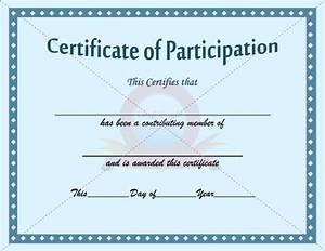 Certificate Of Participation Template Free Best Photos Of Blank Participation Certificate For Church Blank Participation Certificate