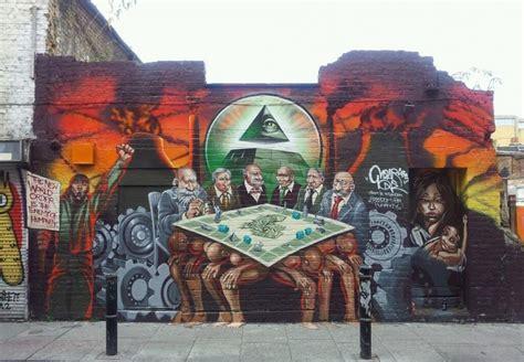 mear  brick lane street art  mural anti semitic