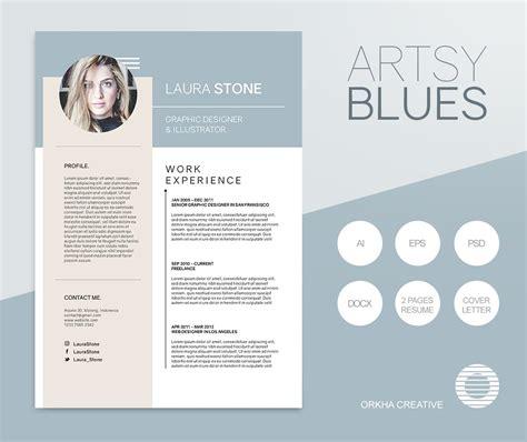 Artsy Resume Templates by Artsy Blues Resume Template Resume Templates Creative