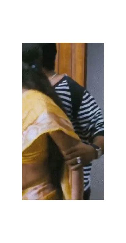 Side Saree Blouse Boobs Indian Bounce Exotic