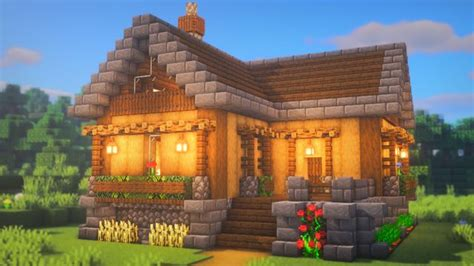 minecraft house    simple  build  outcome