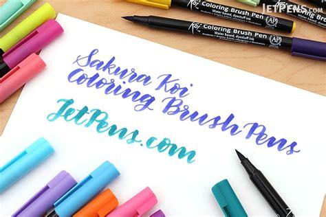 Coloring With Brush Pen by Koi Coloring Brush Pen 12 Color Set Jetpens
