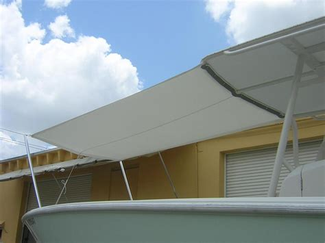Boat Canvas Florida by White Canvas Boat Shade 4 Boca Canvas