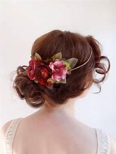 Fuchsia Wedding Lovely Bridal Floral Crown 2225621