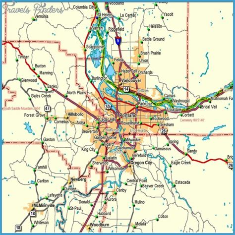 oregon metro map travelsfinderscom