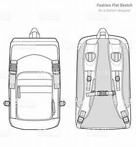 Fashion Flat Technical Drawing Template
