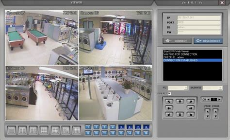 laundromat surveillance system remote dvr viewer
