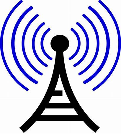 Broadcast Radio Tower Wave Vector Graphic Telecommunication