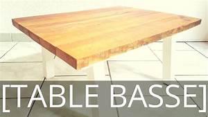 Comment Fabriquer Une Table De Ferme En Bois : comment fabriquer une table basse avec du bois de r cup ration ep41 youtube ~ Louise-bijoux.com Idées de Décoration